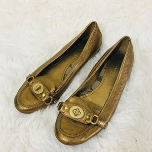 Coach Flat Gold Loafers